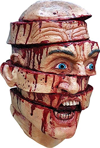 Ghoulish Adult Sliced Face Horror Theme Party Halloween Costume Hideous Mask]()