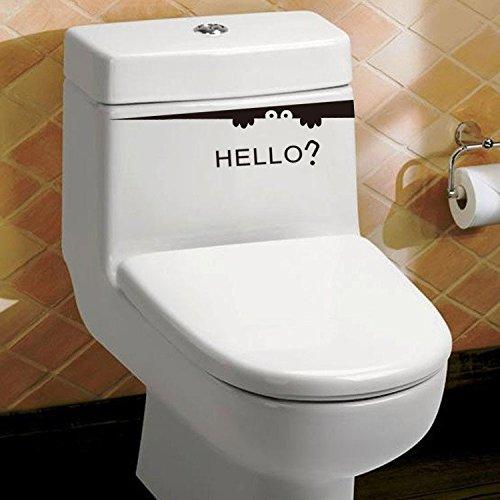 Laptop Wardrobe Toilet Closestool Bathroom Removable Stickers Murals ufengke/® Caricatura Hola Cara Creativa Pegatinas De Pared