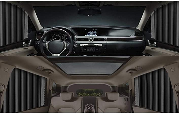 Gorgebuy 4 Pezzi Tende per Auto Tende per finestrini Laterali Auto Parasole Magnetico per Auto Protezione Raggi UV ombrelloni per Auto per finestrini Anteriori e Posteriori Auto