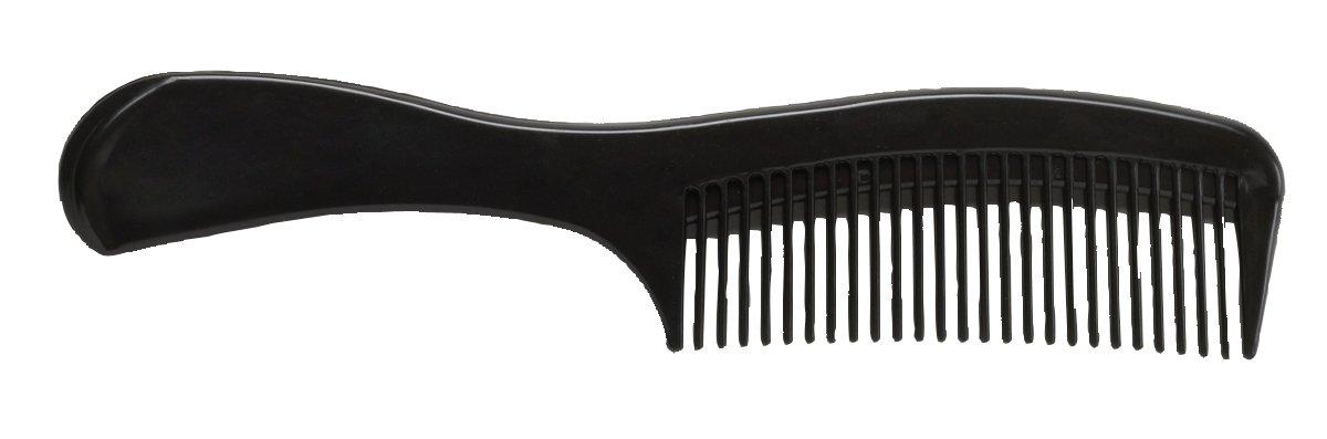 Medline MDS137209 Latex Free Adult Large Handle Comb, 9'', Large, Black (Pack of 144)