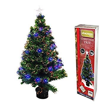 90cm 3ft Fibre Optic Christmas Tree 88 Tips Amazon Co Uk  - Fibre Optic Christmas Tree Uk Only