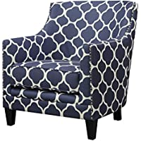 Abbey Avenue A-JUN-706AC June Accent Chair, Dove/Marine