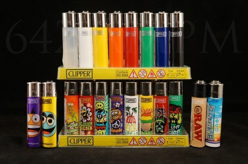 Refillable New (20 Brand New Full Size Refillable Original Clipper Lighters by Clipper)