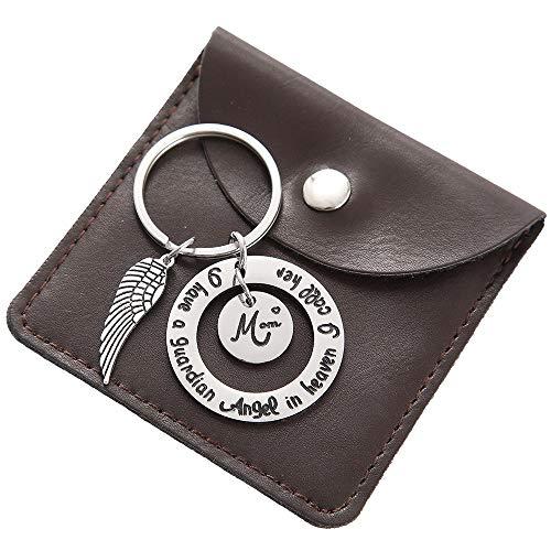 Mom Charm Keychain - Single Angel Wing Charm Keychain Mothers Day Keychain Gift ()