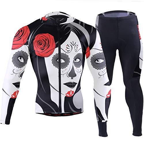 Reynoldss Caraaed Scary Woman Avatar Safflower Men's Cycling Jersey Short Sleeve Full Zip Bike Clothing Set Long Sleeve Mountain Bike Road Bicycle Shirt]()