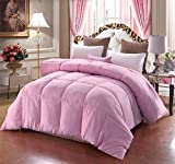 A Nice Night Lightweight Luxury Goose Down Alternative Comforter - Hypoallergenic - Solid (Twin, Pink)