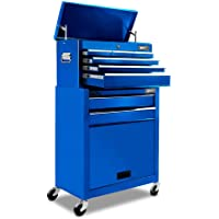 Giantz 8 Drawers ToolBox Tool Boxs Storage Cabinet Top Chest Organizers with Trolley-Blue