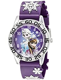 Kids' W002431 Frozen Anna & Elsa Time Teacher Analog Display Analog Quartz Purple Watch