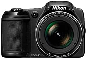 Nikon Coolpix L820 16MP Point-and-Shoot Digital Camera (Black) with 4GB Card, Camera Pouch, HDMI Cable