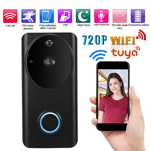 [해외]Video Doorbell Smart 720pwifi Intercom Infrared Night Vision RIP Low Power Mobile Phone Push Alarm / Video Doorbell, Smart 720pwifi Intercom Infrared Night Vision RIP Low Power Mobile Phone Push Alarm