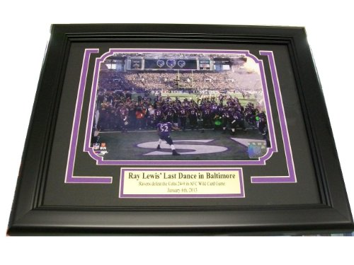 (Ray Lewis Last Ride / Dance Baltimore Ravens 8x10 Framed Photo)