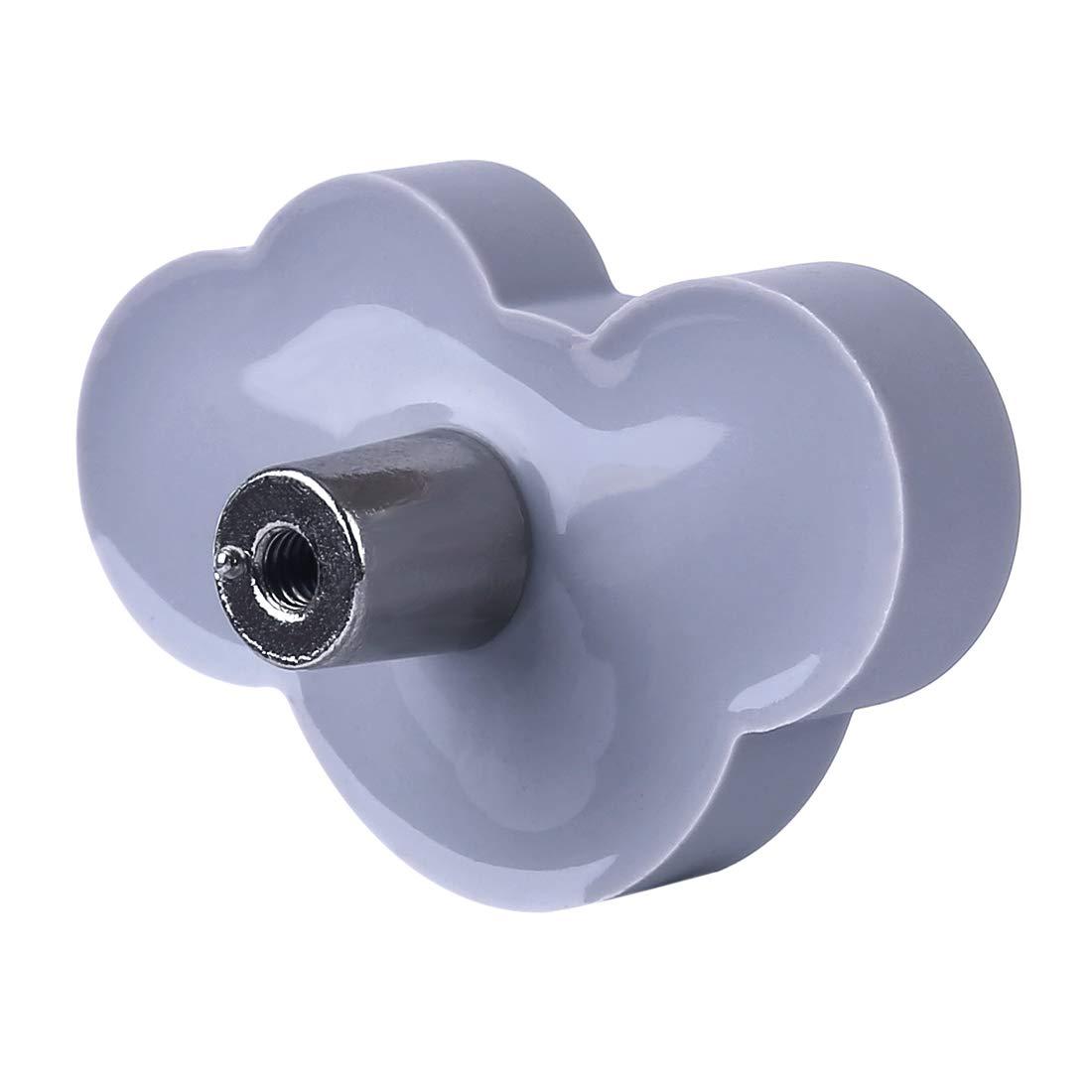 Giplar 6 Piezas Pomos PVC Pomos y Tiradores Infantiles 54x36x23mm Forma de Nube