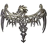 "it's cactus - metal art haiti Dragon, Celtic Inspired, Gothic Wall Plaque Artwork from Haiti,13.75"" x 16.75"""