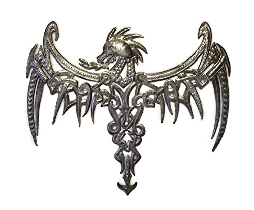 Dragon, Celtic Inspired, Haitian Metal Wall Artwork