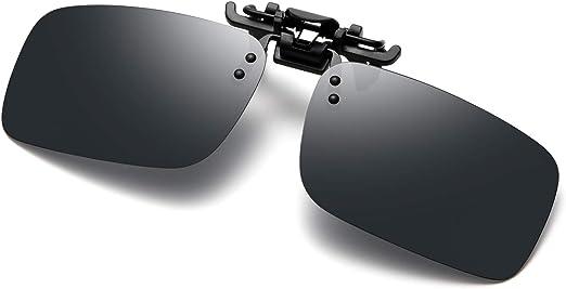 Unisex Polarized Clip Style Sunglasses for Prescription Eyeglasses-Clip on