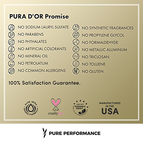 PURA DOR Champú de aceite de argán orgánico Premium para la prevenciónde Caída del cabello (Gold Label), 16 onzas líquido: Amazon.es: Belleza