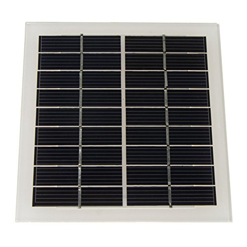 pzsmocn 135mm125mm Solar Panel,Glass Surface,Performance:Corrosion,Moisture.Applications:Solar Energy Generation.Clean and Environmentally Friendly Robot. Lighting Device.