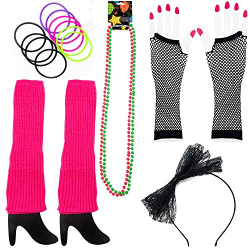 80s Costume Accessories for Women. The Perfect 80's Costume Set to Make You The Hit of The Party -