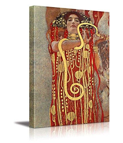 Hygeia (detail from Medicine) by Gustav Klimt Austrian Symbolist Painter Golden Phase