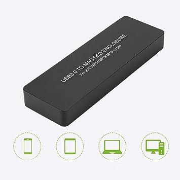 Bewinner Carcasa del Disco Duro, USB3.0 a Mac SSD Box Estuche ...