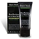 SHILLS Blackhead R Activated Charcoal, Deep Cleansing Purifying, Peel-Off Black Face Mask, Natural, Oil-Control (50ml)