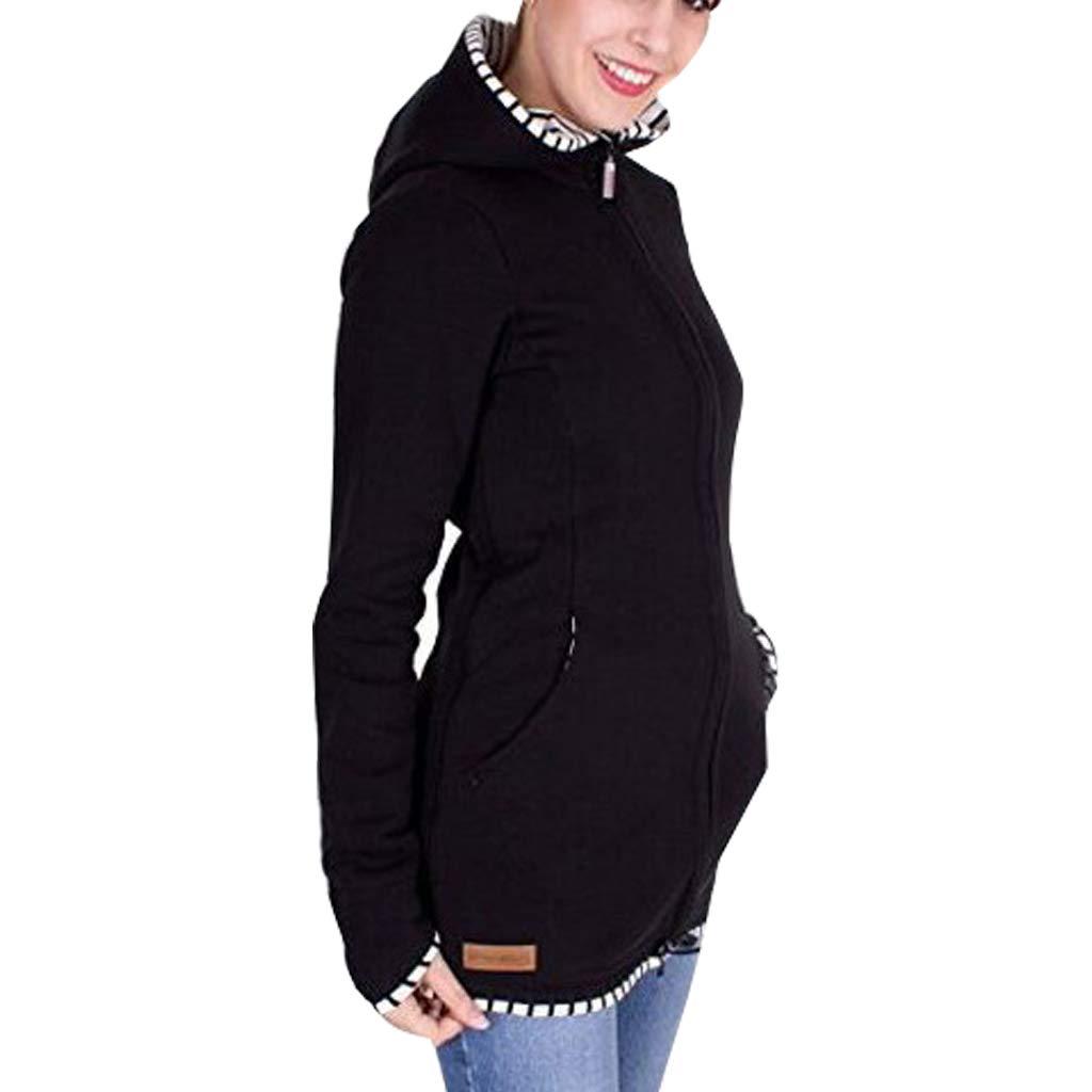 2 en 1 Porte-b/éb/é Maternit/é Sweat-Shirt Polaire MissChild Maternit/é Sweats /à Capuche Femme Kangourou B/éb/és Porteur Pullover