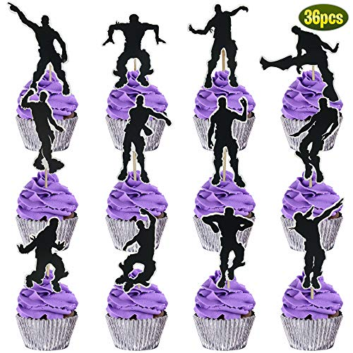 36 Floss Dance Cupcake Toppers | Perfect Birthday Party supplies