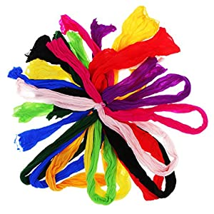 Baoblaze 10Pcs Multicolor Nylon Stocking Mesh Flower Making Arrangement Stamen Craft 8
