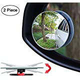 """Blind Spot Mirror, 2"""" Round HD Glass Convex Rear View Mirror, Pack of 4"""