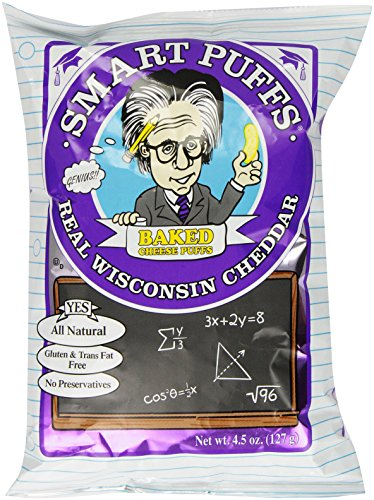 Pirate's Brand Smart Puffs, Wisconsin Cheddar, 4.5 Ounce