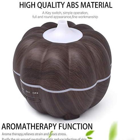 ANLD Kürbisaromatherapie ätherischer Öl-Diffusor, 300ml mit 7 farbwechselnden LED-Lampen und 4 Timing-Einstellungen, mit wasserloser automatischer Schließfunktion,Black