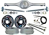 NEW CURRIE 67-70 MUSTANG REAR END WITH 11'' DRUM BRAKES, BRAKE LINES, PARKING BRAKE CABLES, AXLES, & BEARINGS, 1967, 1968, 1969, 1970 MUSTANG, RANCHERO, COMET, COUGAR