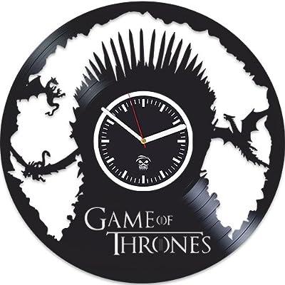 Game Of Thrones Gift, Mother Of Dragons, Targaryen, Vinyl Record Clock, Best Gift For Her, Kovides, Vinyl Wall Clock, Home Art Decor, Vinyl Wall Clock Silent, Wall Clock Modern, Birthday Gift