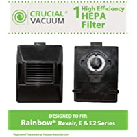 Rainbow Rexair Cleaner E Series Vacuum Cleaner E Series - Washable & Reusable Exhaust HEPA Filter - Compare to Part# R10520, R-10520, R12106B; Designed & Engineered by Crucial Vacuum