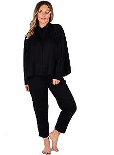 New Womens Plain Baggy Oversized Long Sleeve Top Bottom Loungewear Set Tracksuit