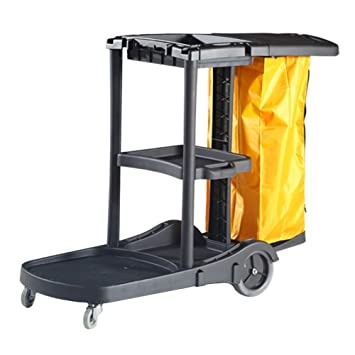 Carro de Servicio Carrito de Limpieza Multiusos de ABS Que Sirve Carro con Ruedas para Uso Comercial/Limpieza/Escuela - 130 × 55 × 100 cm: Amazon.es: Hogar