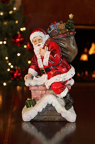 Summit Arbor Santa in Chimney Delivering Gifts Christmas Tree Topper by Summit Arbor LLC (Image #1)