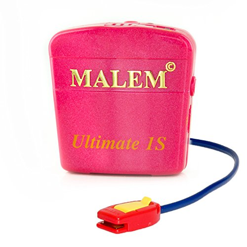 Malem Ultimate PRO Selectable Magenta Bedwetting Alarm with Vibration - Magenta