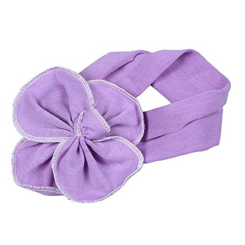 303faf747f3 Lovely Ovely Unusal Cotton Girls Baby Flower Headband Hairband Bow Lavender  - Buy Online in UAE.