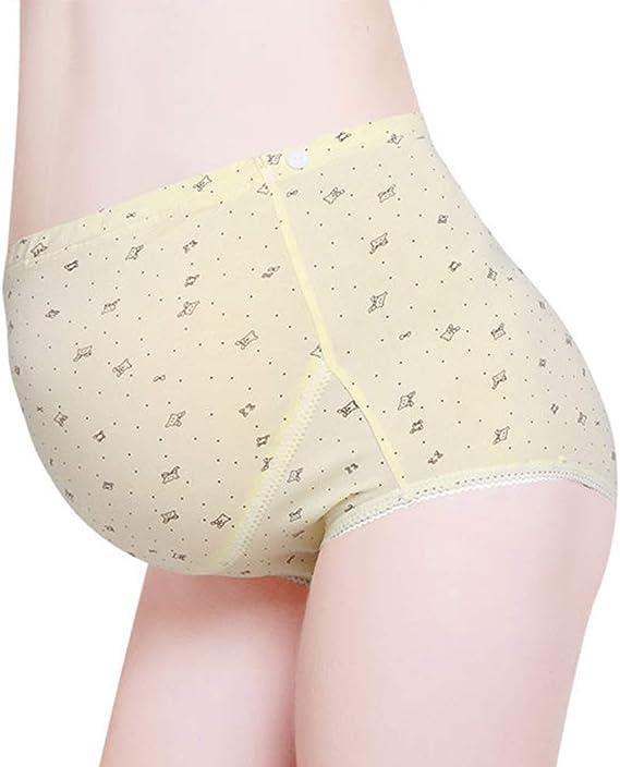 FEOYA 2 Pack Maternity Over Bump Cotton Underwear Seamless Pregnancy Panties