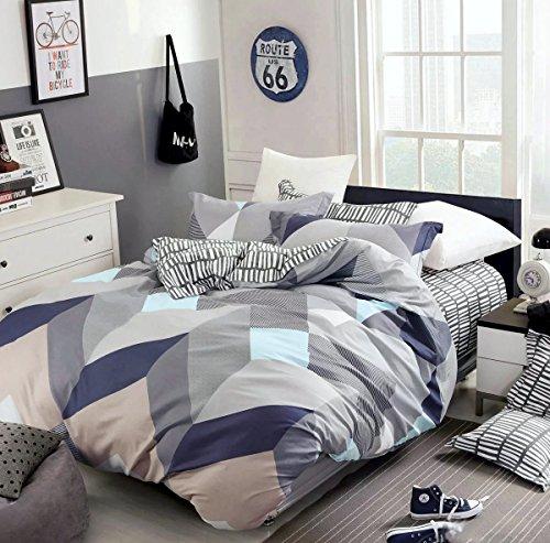 Minimal Style Geometric Shapes Duvet Quilt Cover Modern Scandinavian Design  Bedding Set 100 Percent Cotton Part 91