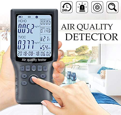 MAMASAM Formaldehyde Detector TVOC Detector Digital Display Temperature Humidity Clock Measurement Formaldehyde Household Air Quality Detector / MAMASAM Formaldehyde Detector TVOC Detector Digital Display Temperature Humidity Clock...