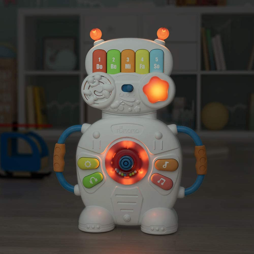 TUMAMA Robot Musical Toys for Boys and Girls,Early Educational Toys for Infants Birthday