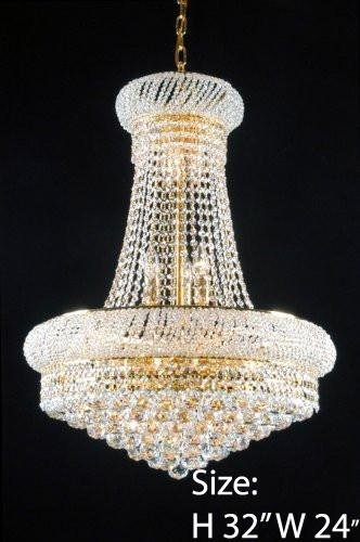 "Swarovski Crystal Trimmed French Empire Crystal Chandeliers Lighting – Great for the Dining Room, Foyer, Living Room! H32 X W24"" Review"