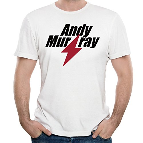 MAGGO Handsome Men Tennis Player Andy Murry T Shirts Mens White (Tennis Player Costumes)