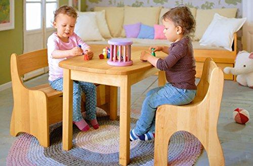 biokinder 22820 levin spar set kindersitzgruppe komplett tisch bank stuhl aus massivholz erle. Black Bedroom Furniture Sets. Home Design Ideas