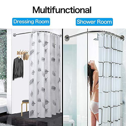 Buy neo angle corner shower curtain rod