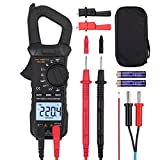 Neoteck Digital Clamp Meter, 6000 Counts TRMS Clamp Multimeter Measures AC Current, AC/DC Voltage, Continuity Capacitance Resistance Frequency Diode Hz Test Square Wave