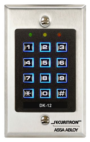 Securitron Single Gang Digital Keypad System with Illuminated Keys, 99 User Code Capability