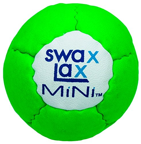 SWAX LAX Mini Soft Lacrosse Training Ball, Smaller and Lighter Than Regulation Ball. Just The Right Weight in Your Mini-Stick Pocket